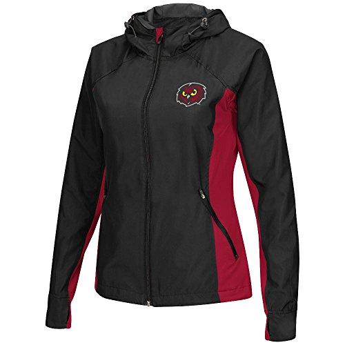 Womens NCAA Temple Owls Full-zip Windbreaker Jacket (Black) - L