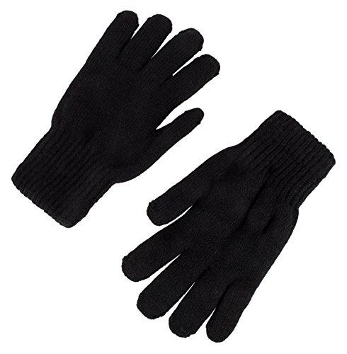 Cotton Thermal Gloves (Heat Logic Work Glove - Winter Gloves - Gloves for Men and Women - Thermal Gloves - Winter Warm Wear Gloves BLACK, ONE SIZE)