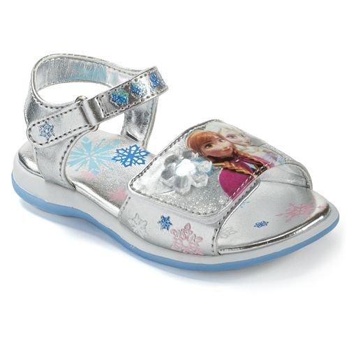 NEW Disney Frozen Elsa and Anna Light Up Sandals Toddler Gir