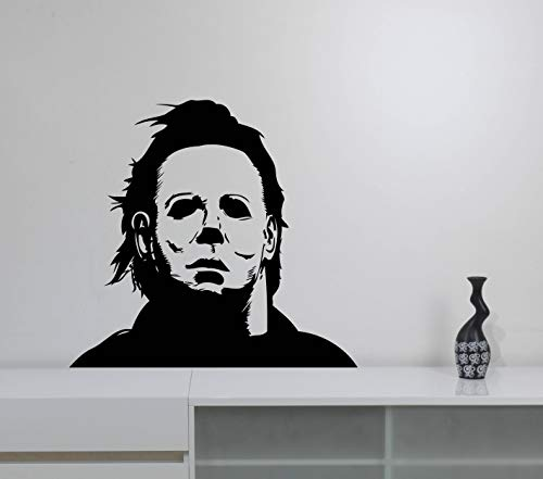 Michael Myers Wall Vinyl Sticker Halloween Movie Vinyl Decal Friday The 13th Scary Art Best Horror Decorations for Home Room Bedroom Decor Made in USA Fast -