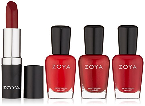 Zoya Lips & Tips Quad Nail Polish, Merry & Bright