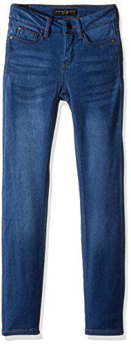 Girls Pink Denim (Celebrity Pink Big Girls' Super Soft Denim Skinny, Queen Dark, 12)