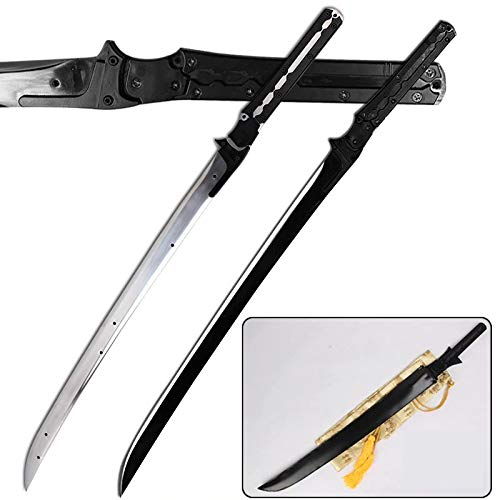 Kawashima_sword for Metal Gear Rising Revengeance Raiden High Frequency Full Tang Carbon Steel Sword for Collectible Cosplay Props