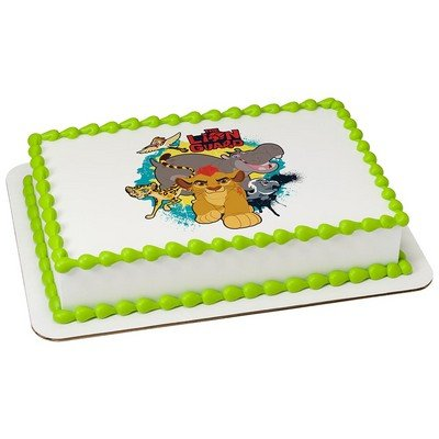 1 4 Sheet The Lion Guard Edible Cake Cupcake Party Topper Grocery Gourmet Food