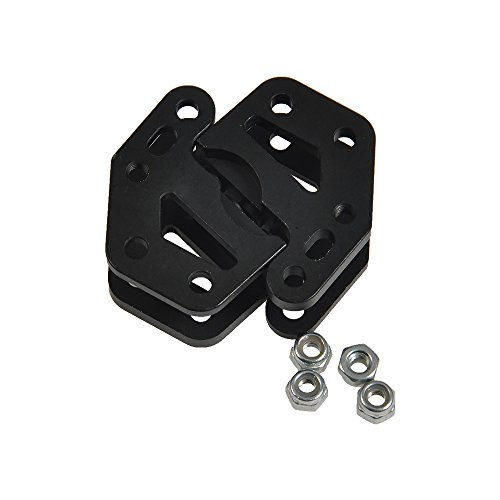 Link Mount - Alloy Dual Lower Shock Link Mount for 1/10 RC Crawler Axial Wraith 90018 RR10
