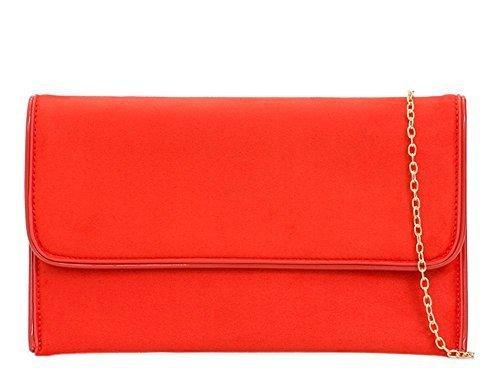 main pour pochette Écarlate cuir 'S DIVA haute Sac simili femme habillé Fête à pour Medium Rouge NEUF FI7aqCw