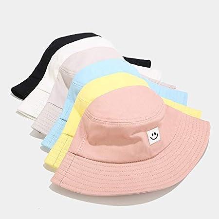 XUJJA Sombrero Femenino del Verano versi/ón Coreana de Las Caras sonrientes de la Marea Salvaje Amantes del Sombrero de Visera Sencilla Sombreros del Cubo est/ándar de Ocio