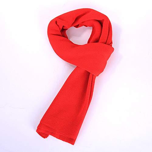 Cachemire Hiver Amdxd Monochrome Rouge Automne Écharpe Tricoté 180cm Femmes Pour ZrFFnwYWqd