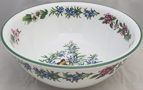 Royal Worcester Herbs Green Trim Round Vegetable Bowl 8