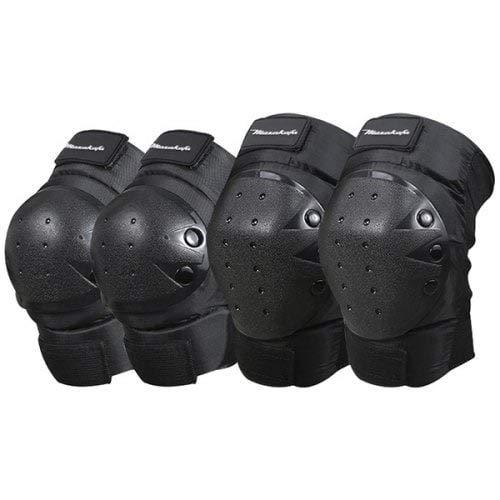 HaiMa Motocicleta Romper-Resistente Codo Almohadillas Tapas De La Rodilla 4Pcs-Negro