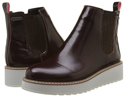 Donna Pepe Jeans burgundy Rosso Ramsy Chelsea Stivali wx6TqzRP