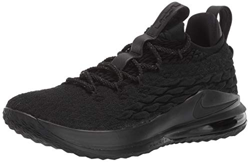 Nike Lebron XV Low Mens Fashion-Sneakers AO1755-004_12 - Black/Black-Thunder Grey