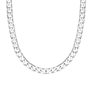Shining Jewel 925 24 inches Silver Plated Imported Quality Cuban Chain for  Men   Women (SJ 2189)  Amazon.in  Jewellery 9dde50f650