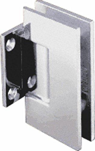 CRL Geneva Series Chrome Wall Mount Short Back Plate Hinge (Standard Model)