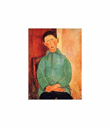 - Amedeo Modigliani Boy In A Blue Jacket Old Master Art Painting Poster Print