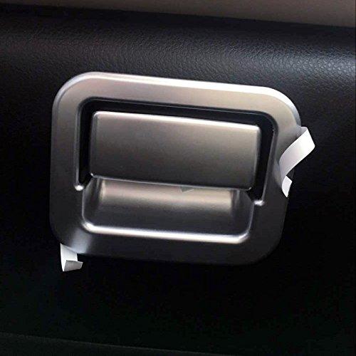 ABS mat Poign/ée de bo/îte de rangement int/érieure Coque Trim 2 pcs pour accessoire de voiture TYRA