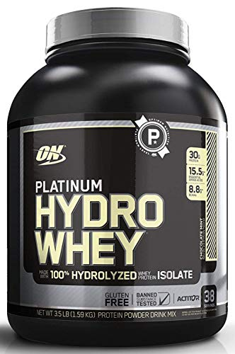 OPTIMUM NUTRITION Platinum Hydrowhey Protein Powder, 100% Hydrolyzed Whey Protein Powder, Flavor: Chocolate Mint, 3.5 Pounds