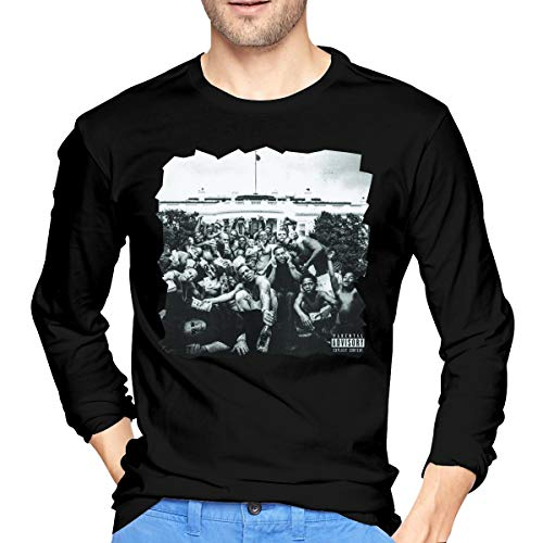 JeremiahR Mens Kendrick Lamar to Pimp A Butterfly Long Sleeve T Shirts Black XXL