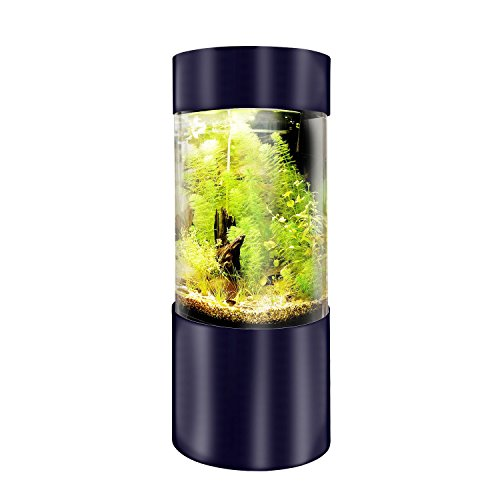 Full Acrylic 360 Cylinder Aquarium Tank w/ Black Trim 25 Gallons, 40 Gallons & 50 Gallons