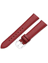 Hadley-Roma Men's MSM725RQ 180 18mm Red Java Lizard Grained Leather Watch Strap
