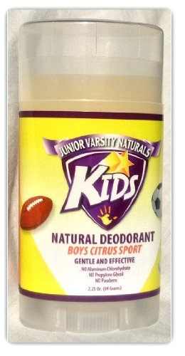 Kids Natural Deodorant for Boys - Citrus Sport - by Junior Varsity Naturals 2.25 Oz