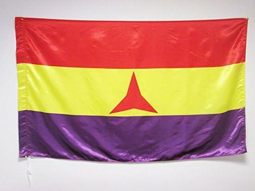 BANDERA ESPAÑA REPUBLICANA BRIGADAS INTERNACIONALES 150x90cm en RASO para palo - BANDERA DE LA REPUBLICA ESPAÑOLA 90 x 150 cm - AZ FLAG: Amazon.es: Hogar