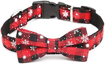 Collar de perro de navidad Corbata de lazo Accesorios para perros ...
