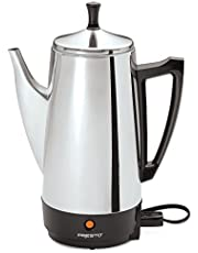 Presto 02811 12-Cup Stainless Steel Coffee Maker, Silver
