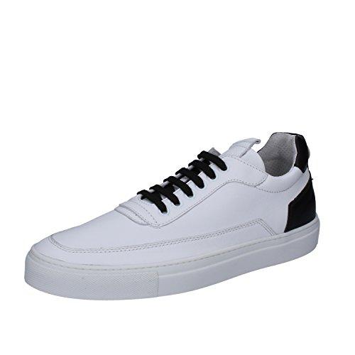 Mariano Di Vaio Sneaker Herren Schnürsenkel Mercury 774M Pelle Blau Bianco / Nero