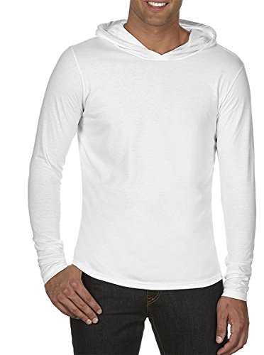 - Comfort Colors Adult Long-Sleeve Hooded T-Shirt. 4900 White XL