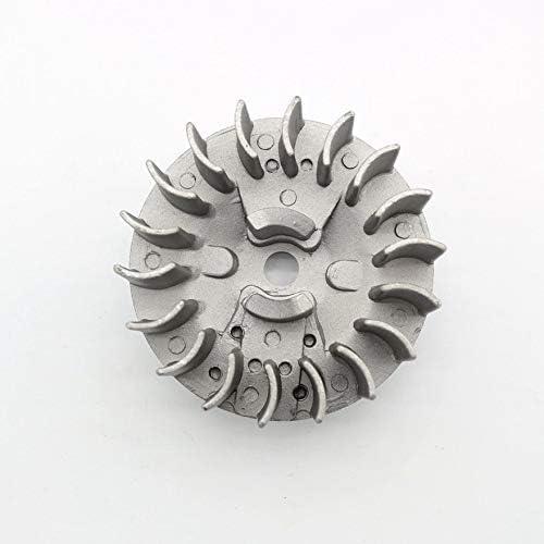 47CC 49CC Mini bolsillos Bike ATV Quad Flywheel Piezas de sierra de cadena de volante magn/éticas duraderas Piezas de herramientas profesionales Plata