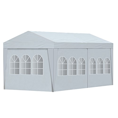 ALEKO 20 x 10 Feet Gazebo Canopy for Outdoor Picnic Party Tent, White Gazebo