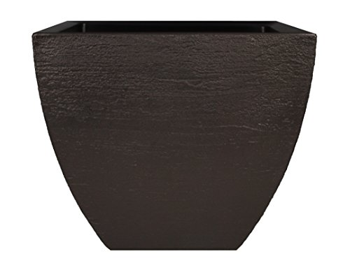 Tusco Products MSQ16ES Modern Square Garden Planter, 16-Inch, Espresso ()