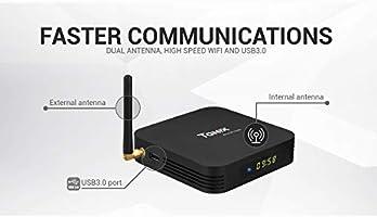 Sofobod Android 9.0 TV Box Tanix TX6 Smart TV Box 4GB RAM/64GB ROM 4K TV Allwinner H6, up to 1.5 GHz, Quad Core Arm Cortex-A53 H.265 Decoding 2.4GHz/5GHz WiFi: Amazon.es: Electrónica