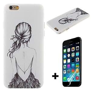 ZXM- patrón hermosa chica dura con cubierta protectora de pantalla para el iphone 6 más