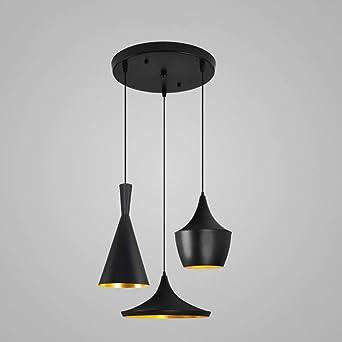 Lámpara de comedor redonda moderna E27 Lámparas colgantes Lámpara ...