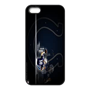 Generic Cell Phone Cases For Apple Iphone 5 5S Cell Phone Design With 2015 NFL #18 Peyton Manning Denver Broncos NFL niy-hc844210