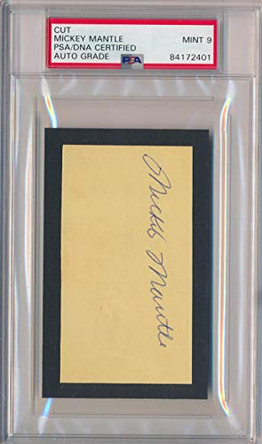 Mickey Mantle Vintage Signed Autograph, Playing Days c. 1956. PSA 9 Mint from Brigandi Coins and Collectibles