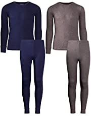 Only Boys 2-Pack Thermal Warm Underwear Top Pant Set (2 Full Sets)