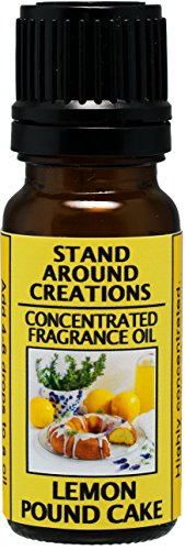 Concentrated Fragrance Oil - Scent - Lemon Pound Cake- A mouth-watering aroma of warm lemon pound cake w/sweet lemon glaze. Infused w/essential oil. (.33 fl.oz.) ()
