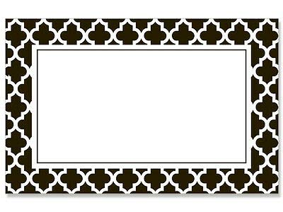 - 50ct. Black & White Tiles Border Blank Florist Enclosure Cards Small Tags