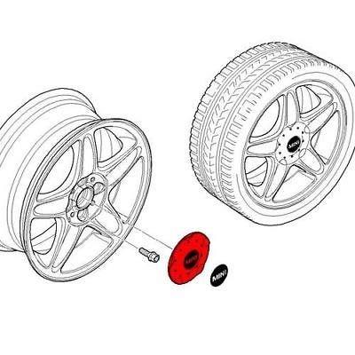 MINI Genuine Silver Hub Cap For 16 5-Star Blaster R103 Alloy Wheels 36136771001