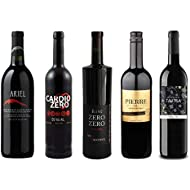 Red Wine Sampler - Five (5) Non-Alcoholic Wines 750ml Each - Featuring Ariel Cabernet Sauvignon, Cardio Zero Red, Zero Zero Deluxe Red, Grande Reserve Rouge, and Tautila Tinto