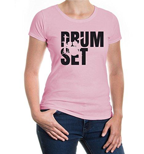 Girlie T-Shirt Drumset Type Lightpink