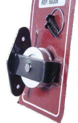 Black Bulk Hardware BH02120 Single Upright Pulley with Wheel