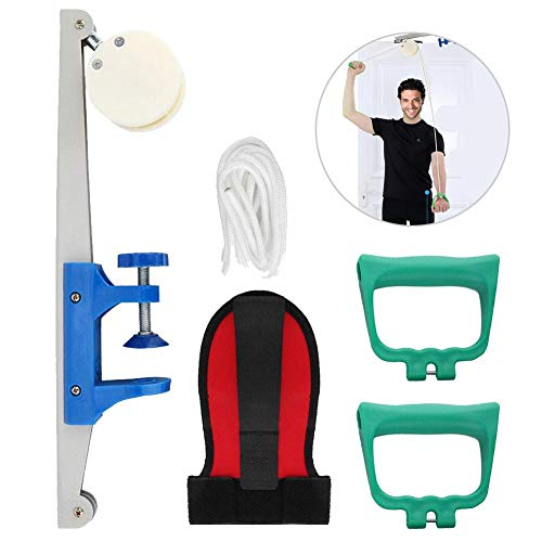 - ZJchao Exercise Pulle, Simple Arm Drive Exercise Pulley Set Kit Overdoor Indoor Sport Equipment Suitable for Men and Women Use