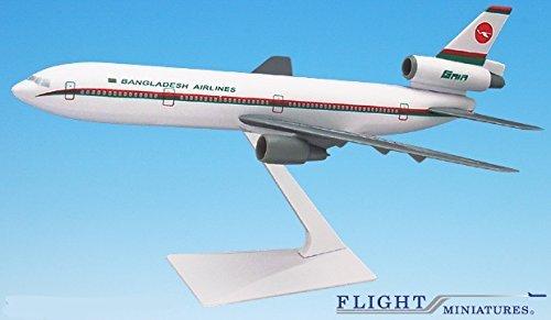 Biman Bangladesh (85-Cur) DC-10 Airplane Miniature Model Snap Fit Kit 1:250 Part# ADC-01000I-025