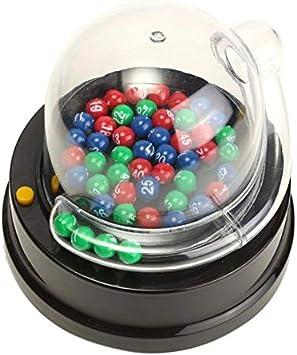Shumo Juguete LoteríA Lucky EléCtrica NúMero de MáQuina de SeleccióN LoteríA Juegos de Bingo Agitar la Suerte de Bola Entertainment Juego de Mesa Juegos de Mesa: Amazon.es: Juguetes y juegos