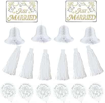 Shopping transportation amscan decorations party supplies amscan classic tassels and honeycomb bells wedding car decorating party kit paper pack of junglespirit Images