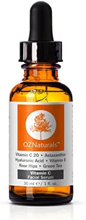 OZNaturals Anti-Wrinkle Anti-Aging Vitamin C Serum with Hyaluronic Acid, 1 fl. oz.